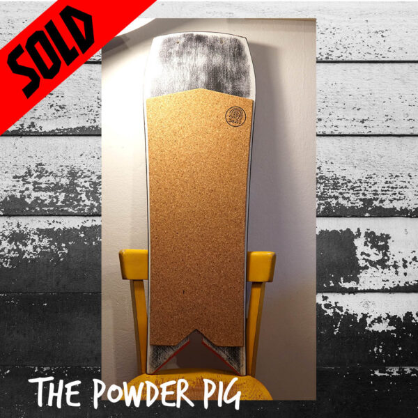 happy snag sowboard recycling upcycling powder pig